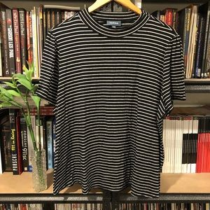 ModCloth Plus Size Stripes Mock Tee